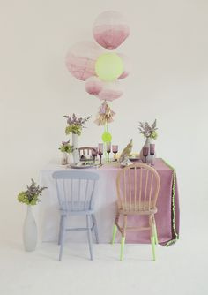 vintage neon party ideas | concept and design by Knot and Pop