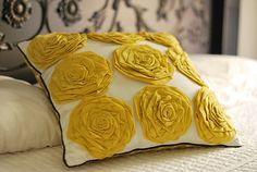 DIY Rosette Pillow // Copycat of Target Throw Pillow