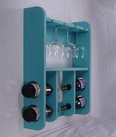Wine Rack with Wine Glass Holder
