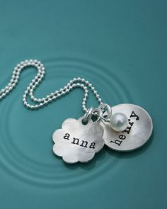 Mommy necklace. Love.