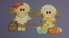 Easter Lamb Punch Art - bjl