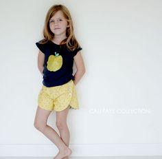 girls shorts pattern, pdf pattern, draft tulip shorts pattern, sew pattern, short pdf, sewing patterns