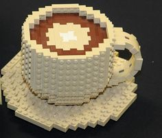 Even the Legos we play with get the coffee treatment!