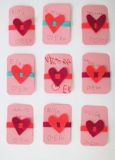 Girls felt valentine.