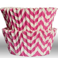 Chevron Pink Greaseproof Cupcake Liners - $3.75 for 50 count