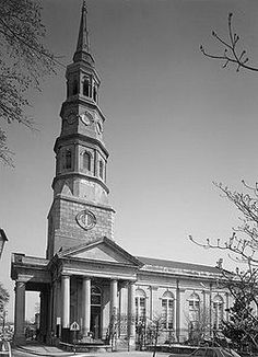 St. Phillip's Episcopal Church/Charleston, S.C. Much history about it, served as a lighthouse about 18 hundreds.