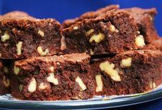 Fudgy Walnut Studded Brownies