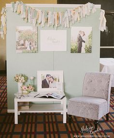 Trade Show Inspiration: Melissa Biador - lots of amazing ideas + how it all came together into one modern romance branded experience