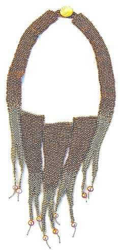 A bead work necklace by Suzanna Solomon