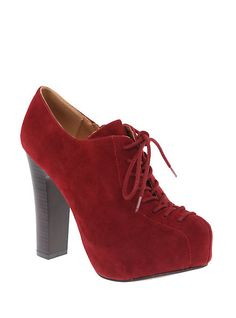 Qupid Theron Red Suede Bootie | Hot Topic