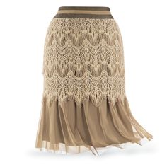 Toffee and Lace Skirt - New Age, Spiritual Gifts, Yoga, Wicca, Gothic, Reiki, Celtic, Crystal, Tarot at Pyramid Collection
