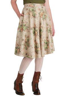 Simple Math Skirt in Floral | Mod Retro Vintage Skirts | ModCloth.com