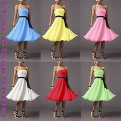 Bridesmaid Dress Prom Dress Birthday Party Cocktail Homecoming Dress 10 Color
