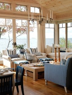 blue-and-neutral-living-room sarah richardson, lake houses, cottag, living rooms, dream, the view, beach houses, living room designs, summer houses