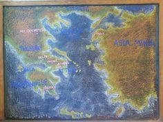 Tacoma Waldorf School Beautiful chalkboard drawing enabling the Grade 5 studies this spring.