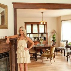 Love the molding around the door frame! -rehab addict dollar house - Google Search
