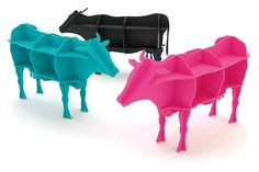 Cow bookshelves, would be fun in a classroom!