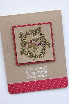 Most Wonderful Time Card by Heather Nichols for Papertrey Ink (September 2014)