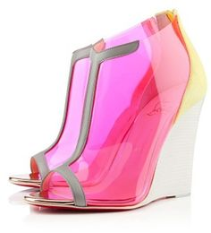 wedge shoes, fashion styles, art, heel, woman shoes, pink, christian louboutin, stiletto, christianlouboutin