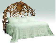 Artist Laura Spector's natural bed