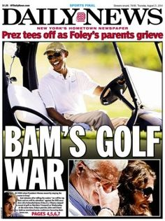 9-7-14 obama apologizes for going golfing then he goes golfing