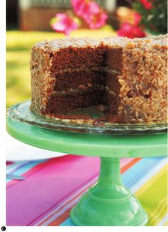 German Chocolate Cake with Coconut Frosting from Trisha Yearwood's Georgia Cooking in an Oklahoma Kitchen
