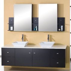 Double Sink Bathroom Vanities   - For more go to >>>> http://bathroom-a.com/bathroom/double-sink-bathroom-vanities-a/  - Double Sink Bathroom Vanities, Spacious bathrooms need special care to look full and not uselessly vast. Using double sink bathroom vanities is a stunning way to make a cozy, attractive and practical bathroom. Double sink bathroom vanities can come in one vanity or two separate vanities beside ...