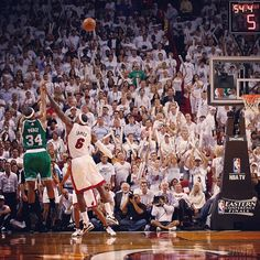 Pierce drains a dagger 3 right in LeBron's face to give the Celtics a 90-86 lead with 52.9 to play in Game 5 in Miami. #boston #celtics #bostonceltics #iamaceltic #iamtheplayoffs #celticsplayoffs #nba #playoffs @miamiheat #miamiheat #beattheheat #iamnotsouthbeach #ecf