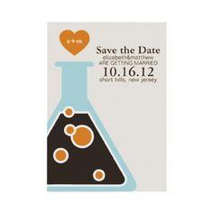 Can't fight chemistry.  Geeky wedding save the date cards.  Cute!