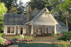 Craftsman Style House Plan - 3 Beds 2.50 Baths 2575 Sq/Ft Plan #120-183 Exterior - Outdoor Living - Houseplans.com