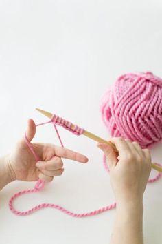 Easy knitting tutorial.