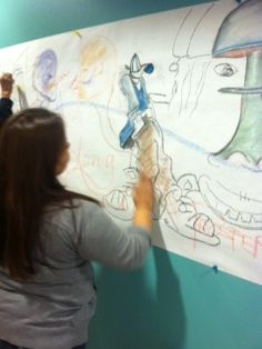 communiti art, 2014 workshop, communiti mural, southwestern student, vbs 2014, internship site