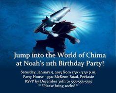 Chima Lego party invitation