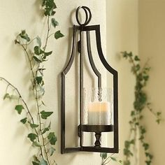 Sconces for real candles