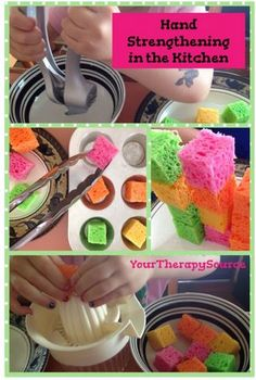 3 Hand Strengthening Activities in the Kitchen - pinned by @PediaStaff – Please Visit ht.ly/63sNtfor all our pediatric therapy pins