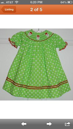Check out these adorable smocked Christmas dresses and outfits.  www.etsy.com/shop/smockmonkey