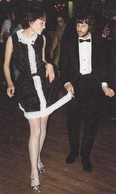 Ringo Starr and Mia Farrow dancing