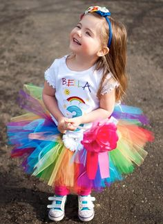 Perfect rainbow birthday outfit!