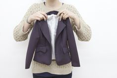 Grainline tutorial: How to bag a jacket lining