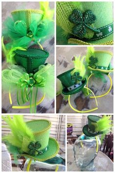 Fleurty Girl - Everything New Orleans - St. Patrick's Fancy Hat Headband