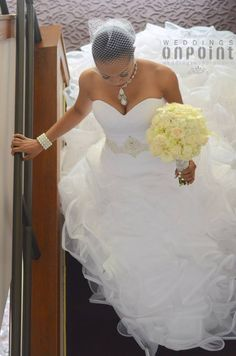 Beautiful American Brides | Beautiful African-American Bride #OnPointBride Photo credit: Once ...