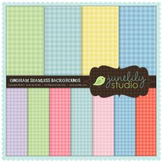 free seamless gingham backgrounds