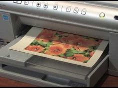 Printing photos on fabric - YouTube