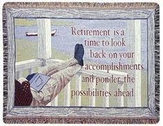 Retirement Gift To Remember Tapestry Throw