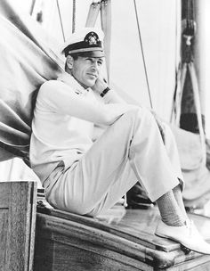 Gary Cooper yachting off the Californian coast, c. 1940