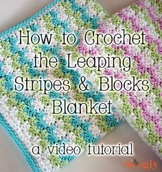 Leaping Stripes and Blocks Blanket Video Tutorial - moogly