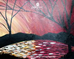 Silhouette Lake Painting - Jackie Schon, The Paint Bar