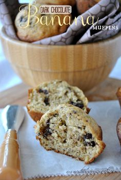 Banana Muffins with Dark Chocolate