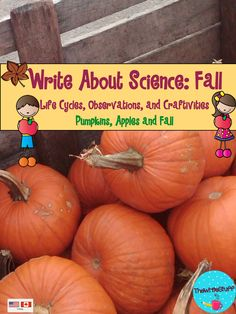 Apple and Pumpkin lifecycles and crafts: Write About Science $