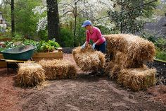 How to make a straw bale bed.